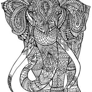 elephant mandala coloring pages - art therapy 30 disegni da stampare e colorare