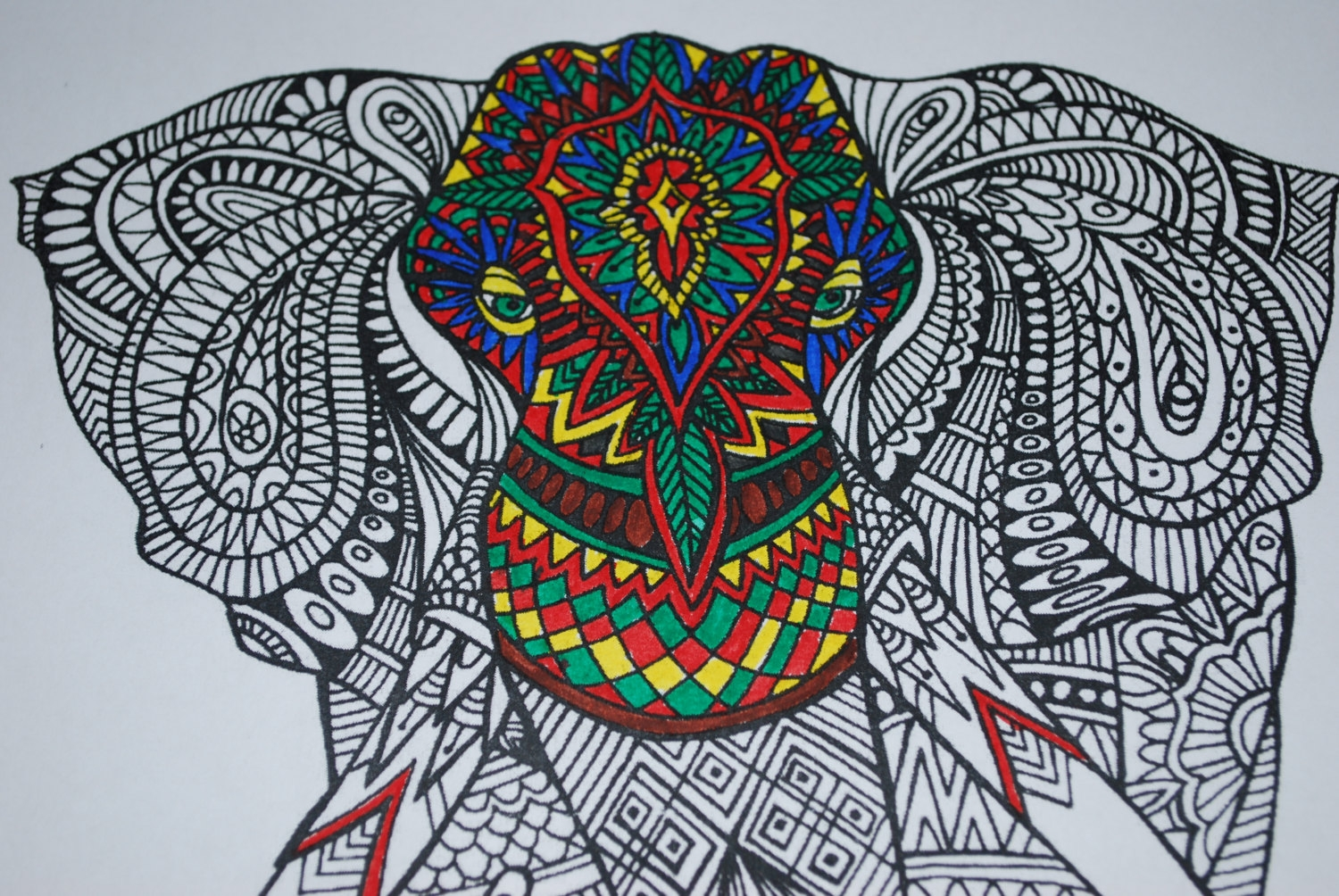 elephant mandala coloring pages - coloring page printable soloring animals
