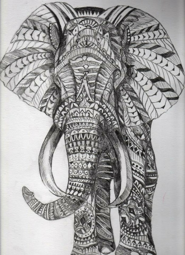 elephant mandala coloring pages -