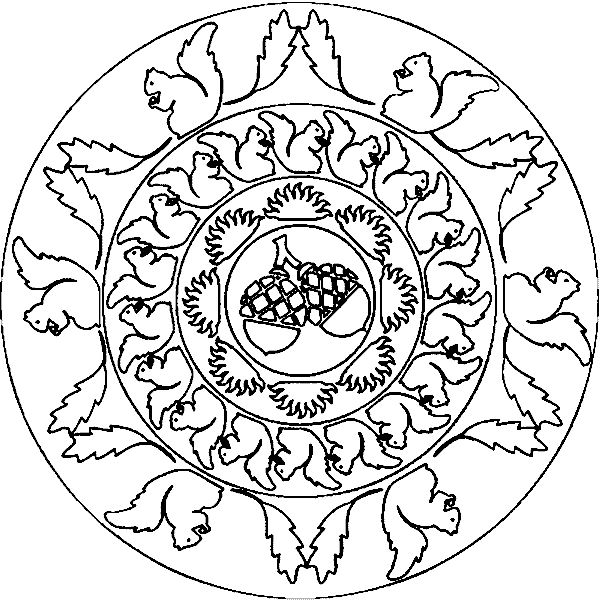 Elephant Mandala Coloring Pages - Herbst Winter