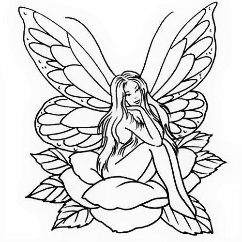 elf coloring pages - outlines fairies
