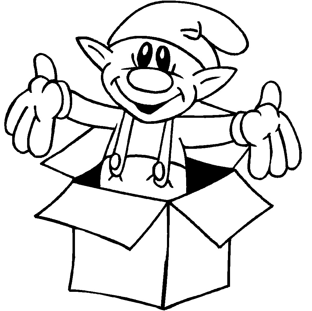 elf coloring pages - elf