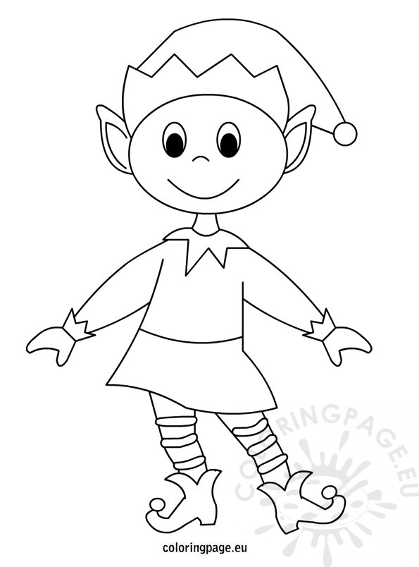 elf coloring pages printable - printable elf coloring pages
