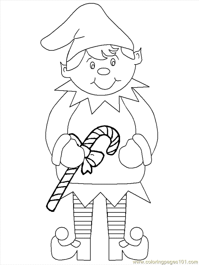 elf coloring pages printable - Elf