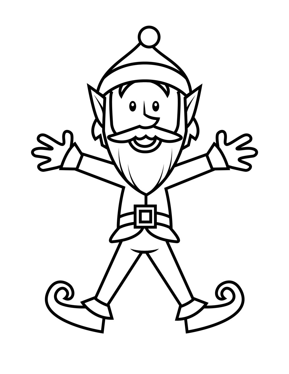 elf coloring pages printable - elf coloring pages