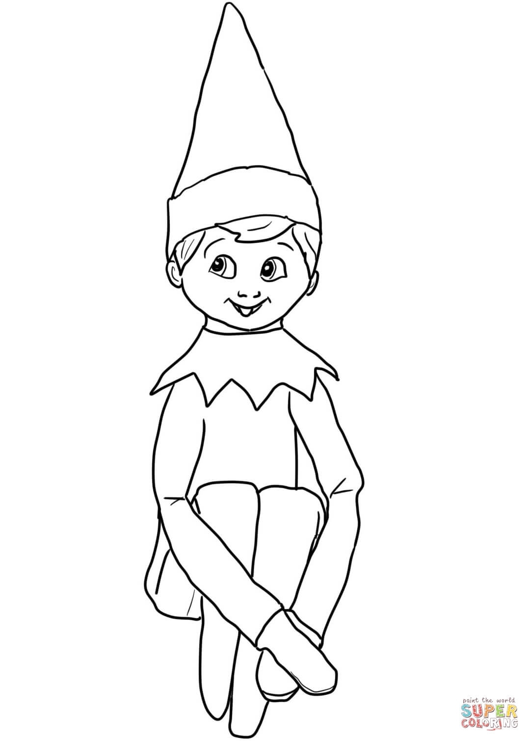 Elf On the Shelf Coloring Pages - Christmas Coloring Pages Elf the Shelf Full Page