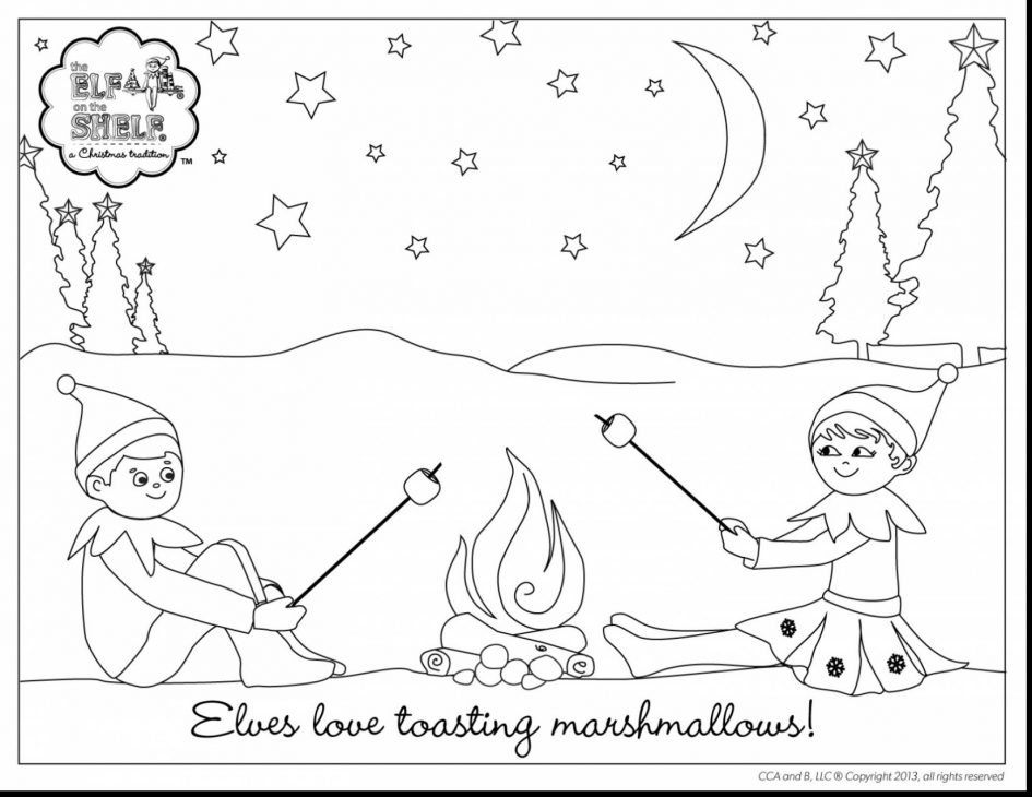 elf on the shelf coloring pages - shelf elf coloring page