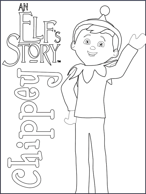 elf on the shelf coloring pages - elf coloring list