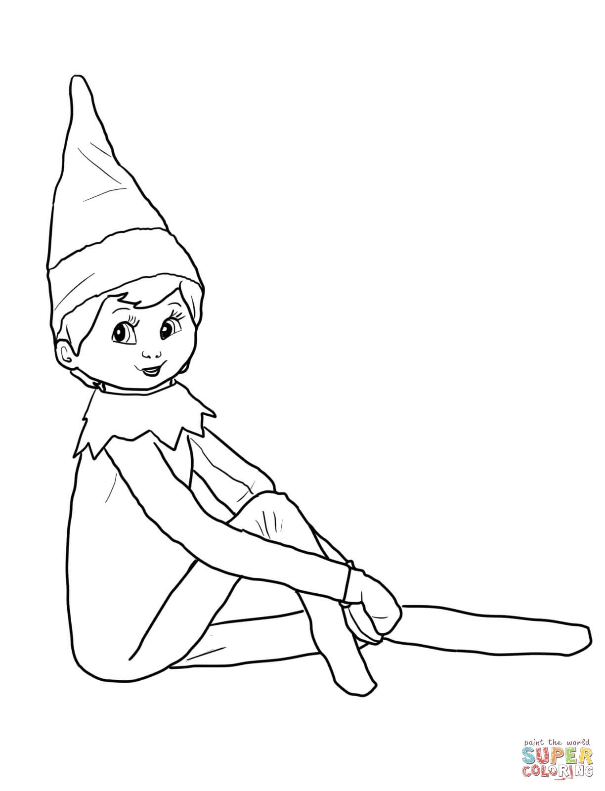 elf on the shelf coloring pages - elf on the shelf