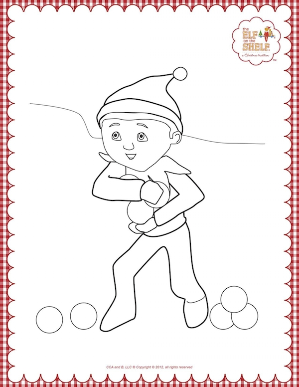 elf on the shelf coloring pages - elf on the shelf coloring pages to print