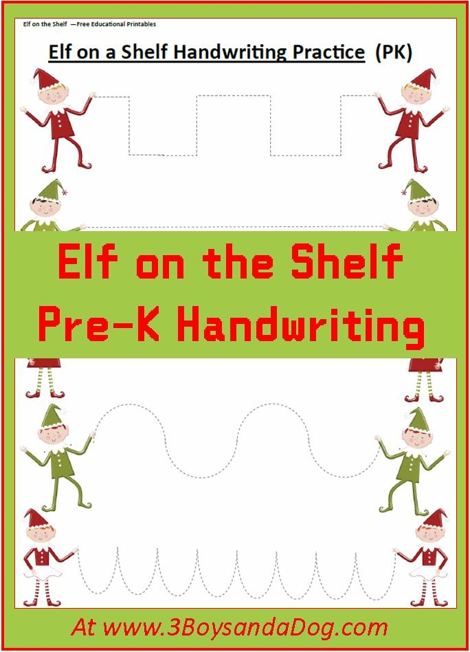elf on the shelf printable coloring pages - elf on the shelf christmas handwriting worksheets for kids