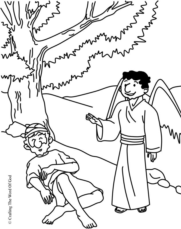 elijah coloring pages - elijah bible story coloring pages sketch templates