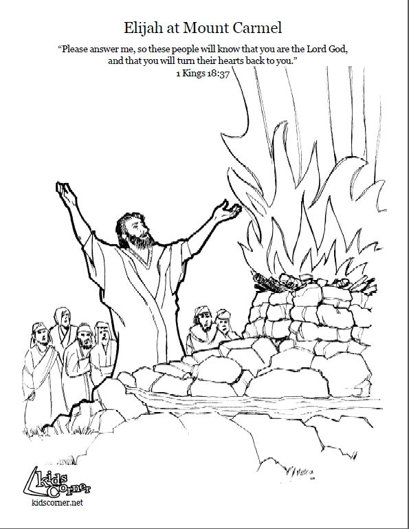 elijah coloring pages -