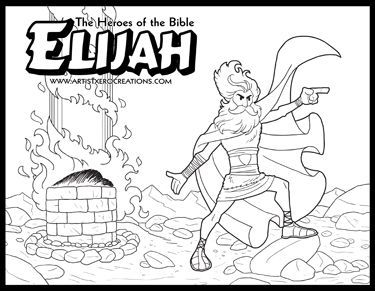 elijah coloring pages - ksDF