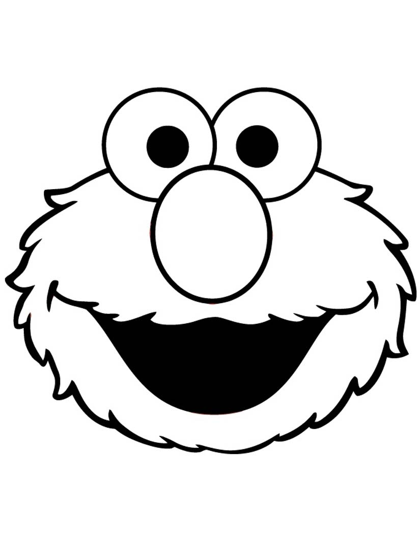 elmo coloring pages - elmo face coloring page