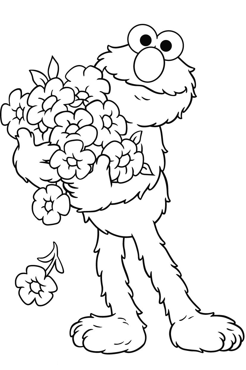 elmo coloring pages - elmo coloring pages
