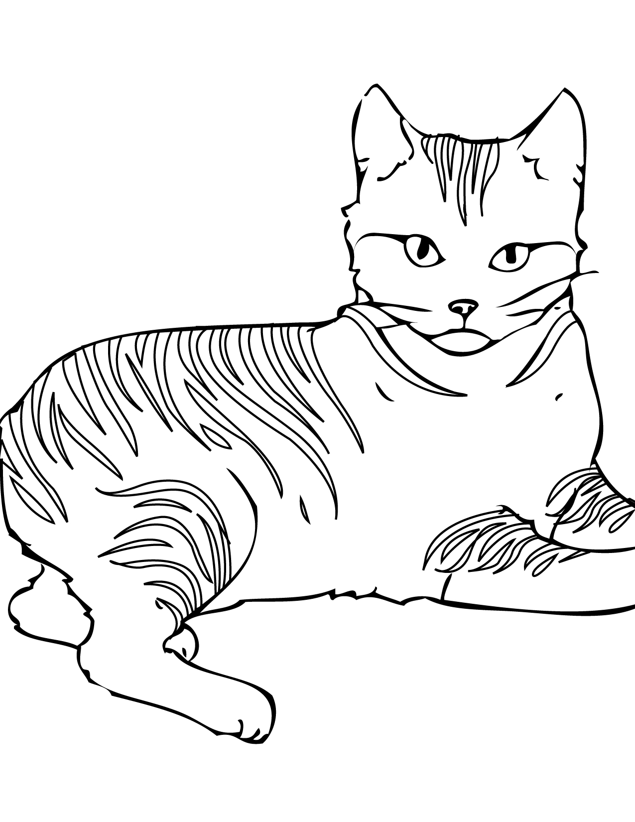 elsa and anna coloring pages - cat coloring pages 27