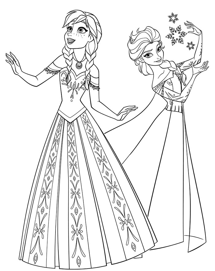 elsa anna coloring pages - free printable coloring pages elsa and