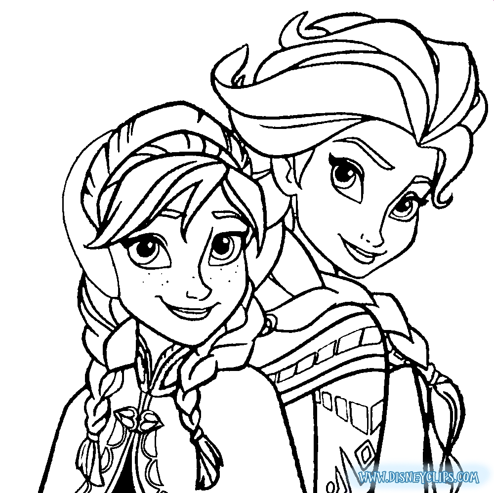elsa anna coloring pages - 609