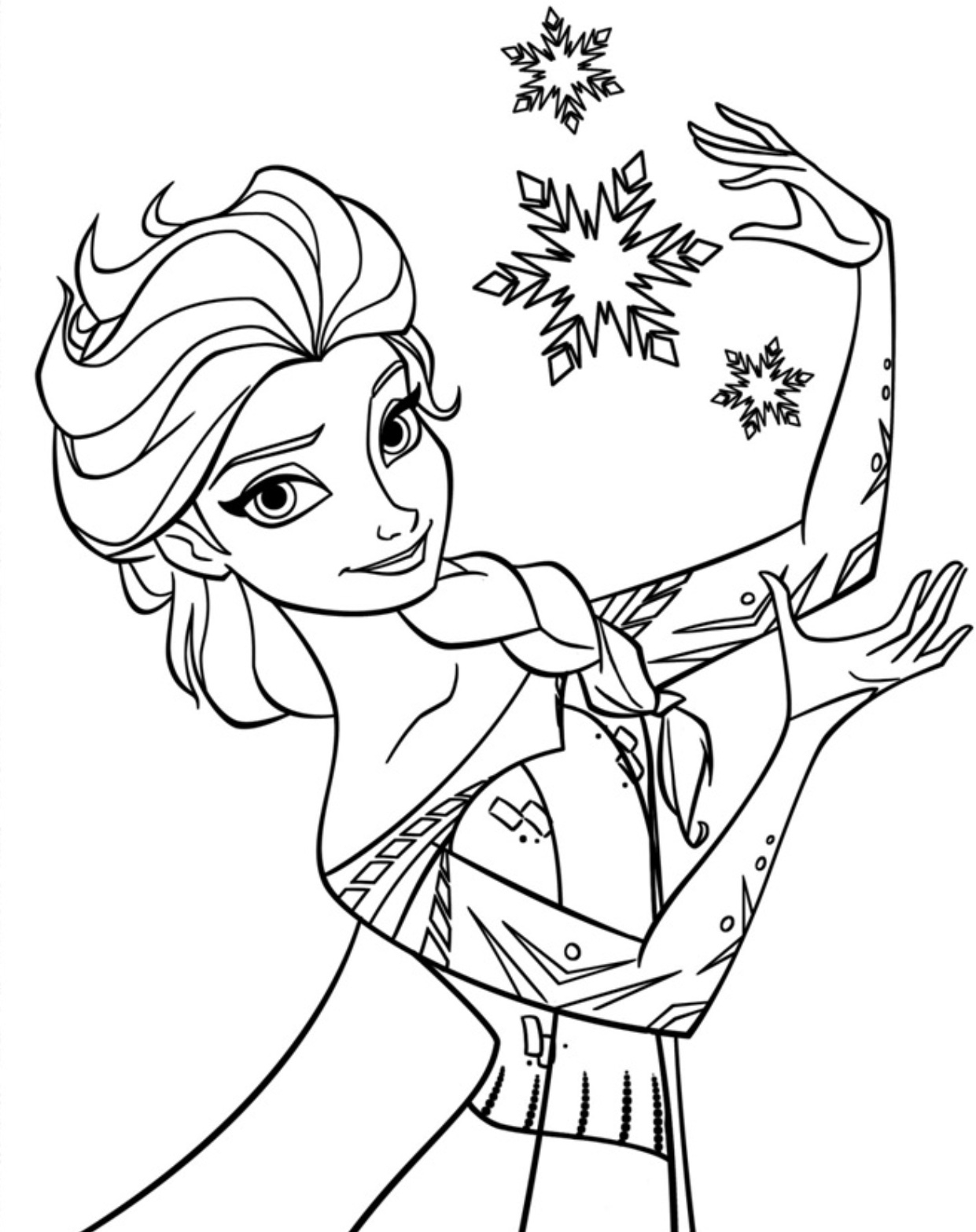 elsa printable coloring pages - q=big pictures of elsa