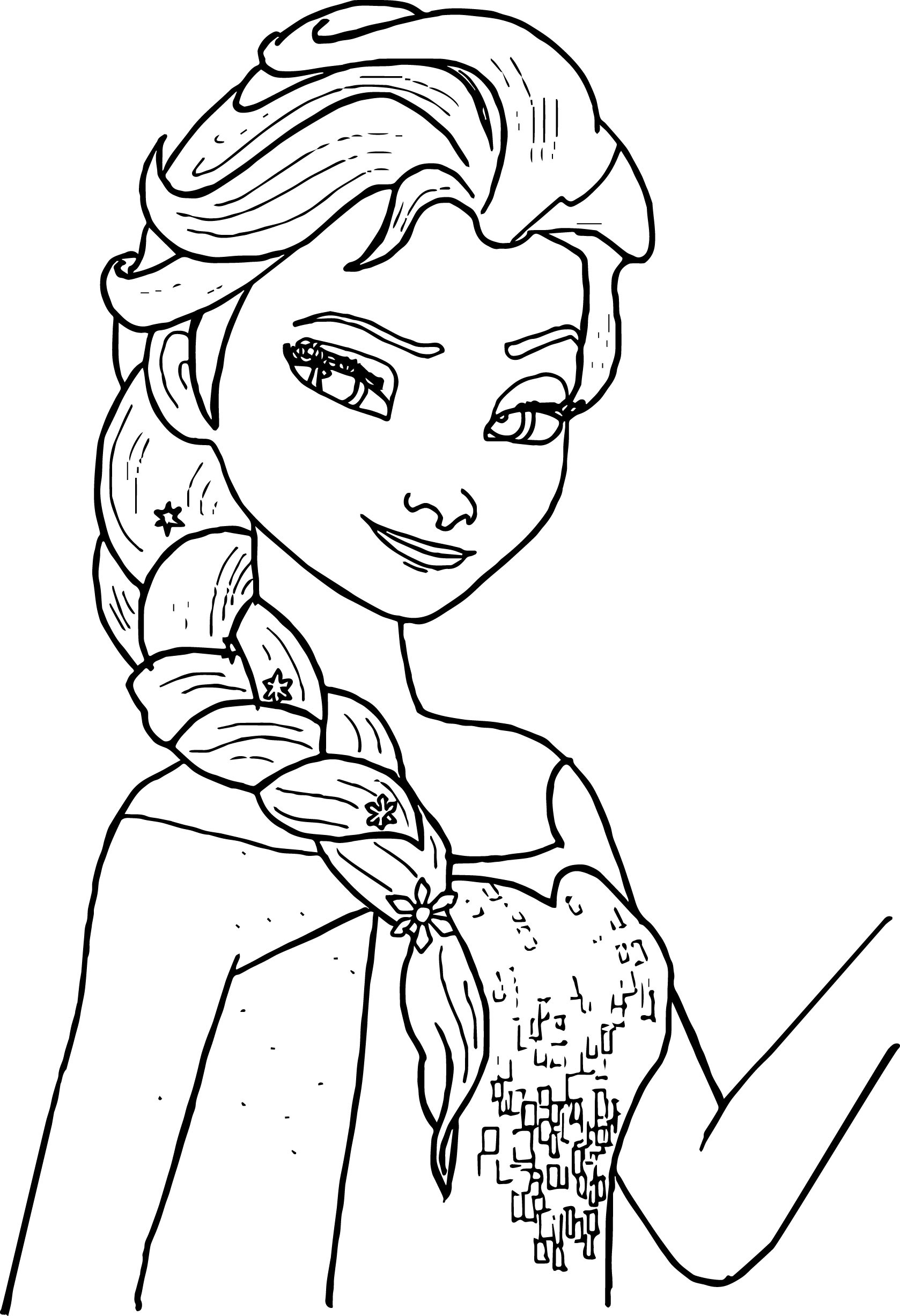 Elsa Printable Coloring Pages - Free Printable Elsa Coloring Pages for Kids Best