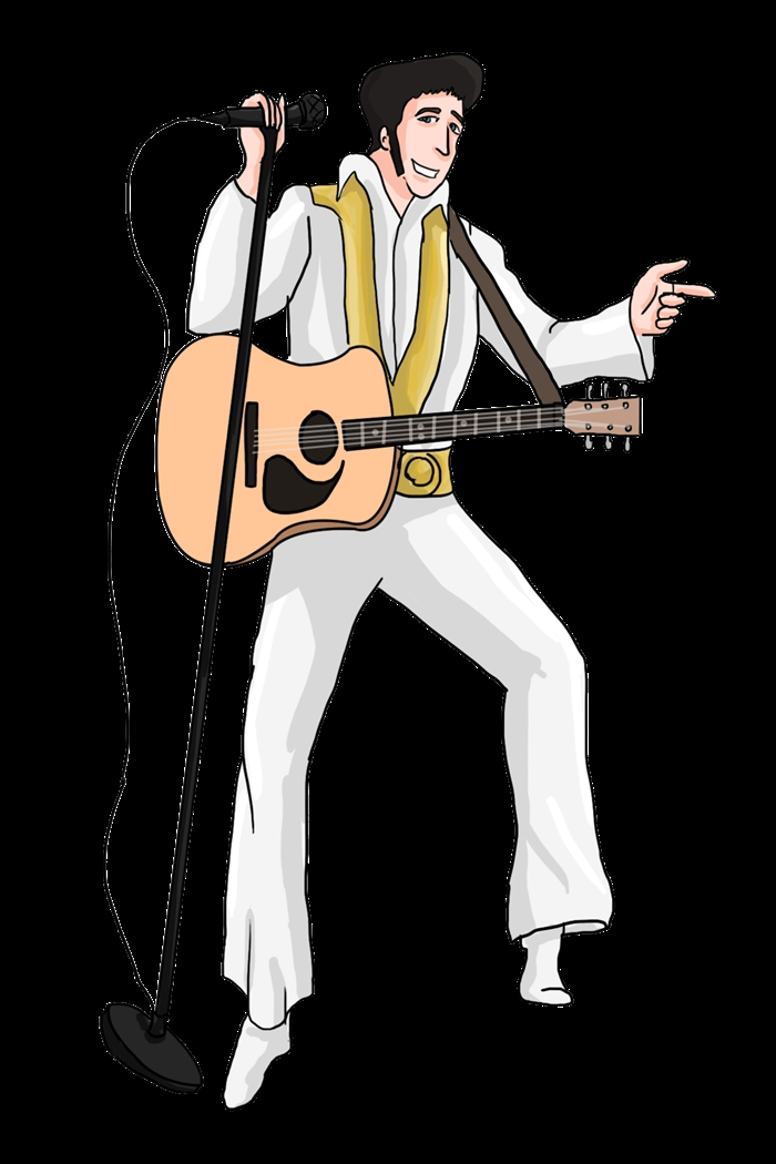 Elvis Coloring Pages - Free Cartoon Elvis Presley Clipart Cliparts and Others