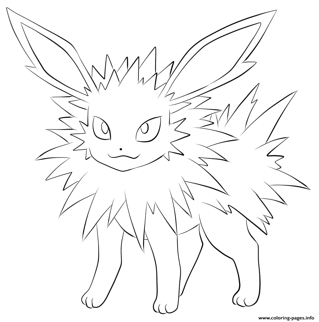 emoji printable coloring pages - 135 jolteon pokemon printable coloring pages book