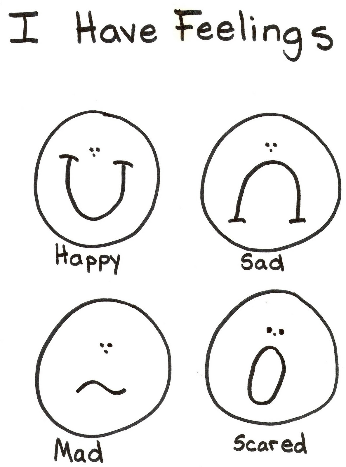 emotions coloring pages - coloring pages feelings