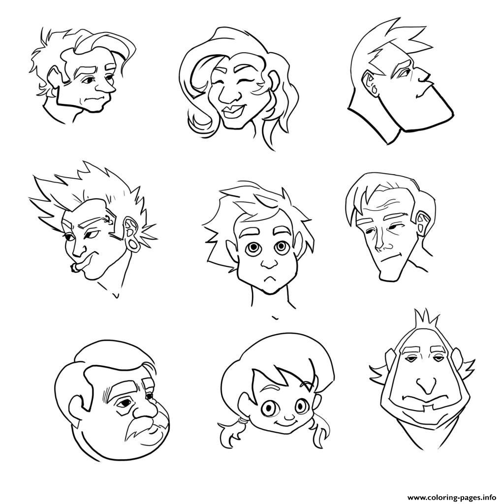 emotions coloring pages - emotion coloring pages