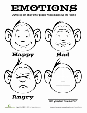 emotions coloring pages - emotions coloring page