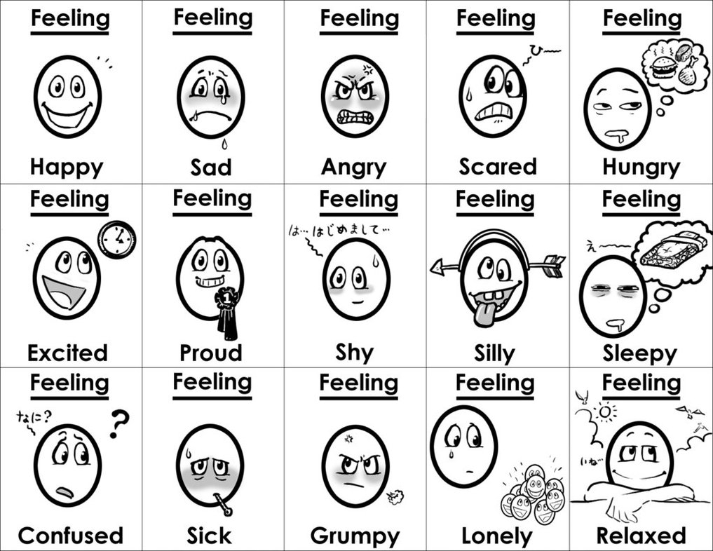 emotions coloring pages - q=emotion and feeling