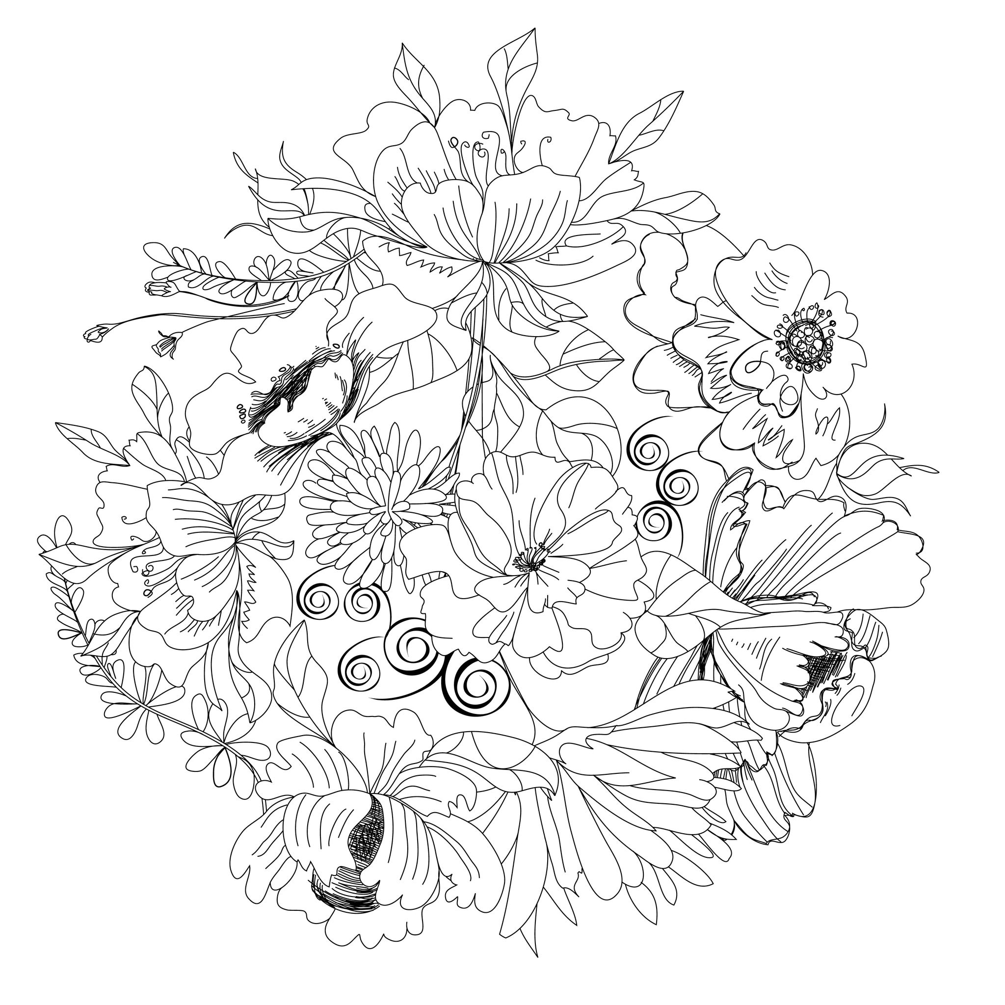 enchanted forest coloring pages - coloriage nature paysage