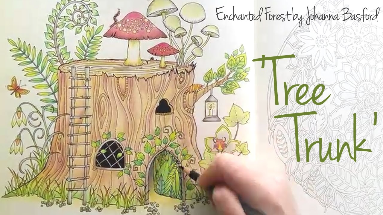 enchanted forest coloring pages - watch v=btAyj7xzZaM