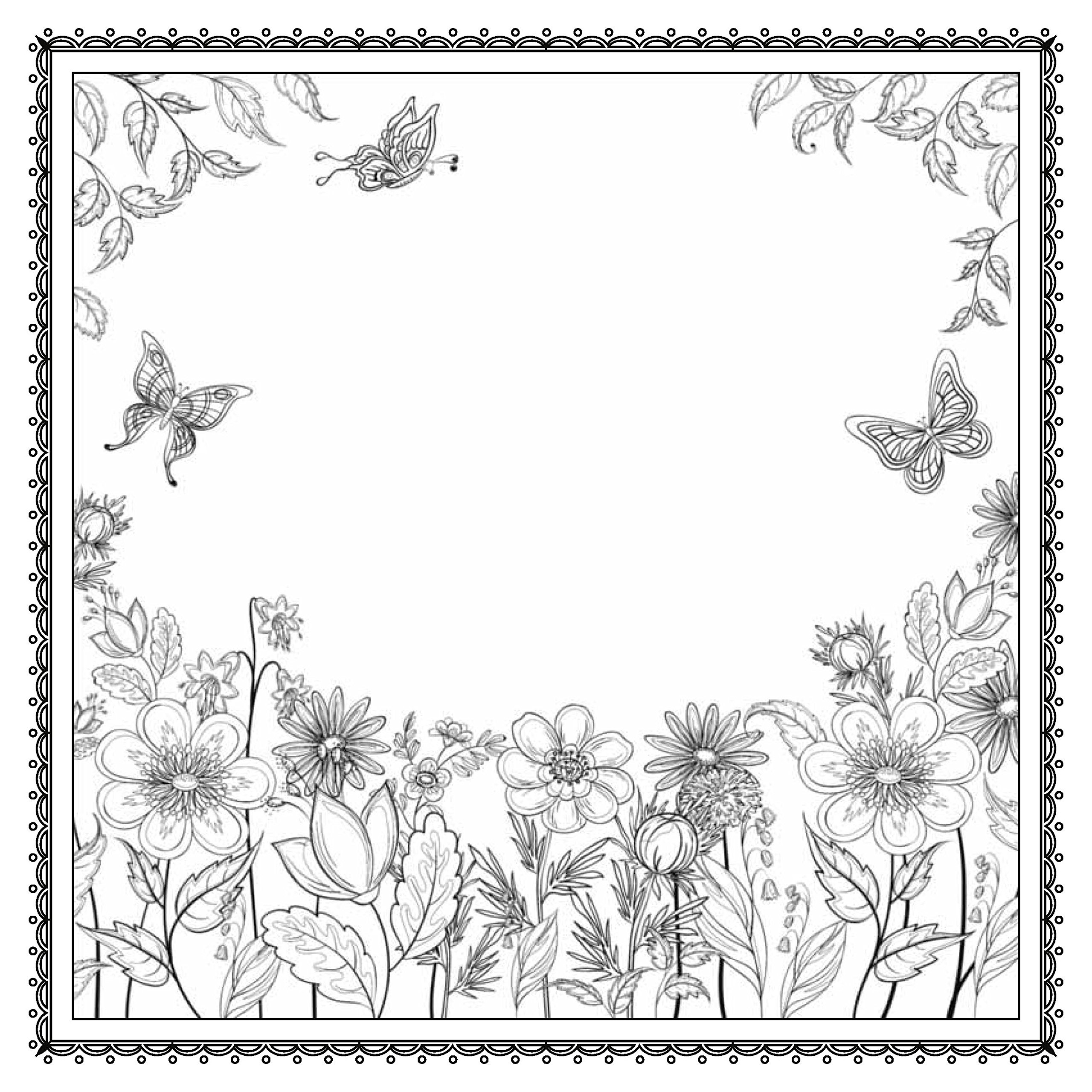 enchanted forest coloring pages - forest coloring pages