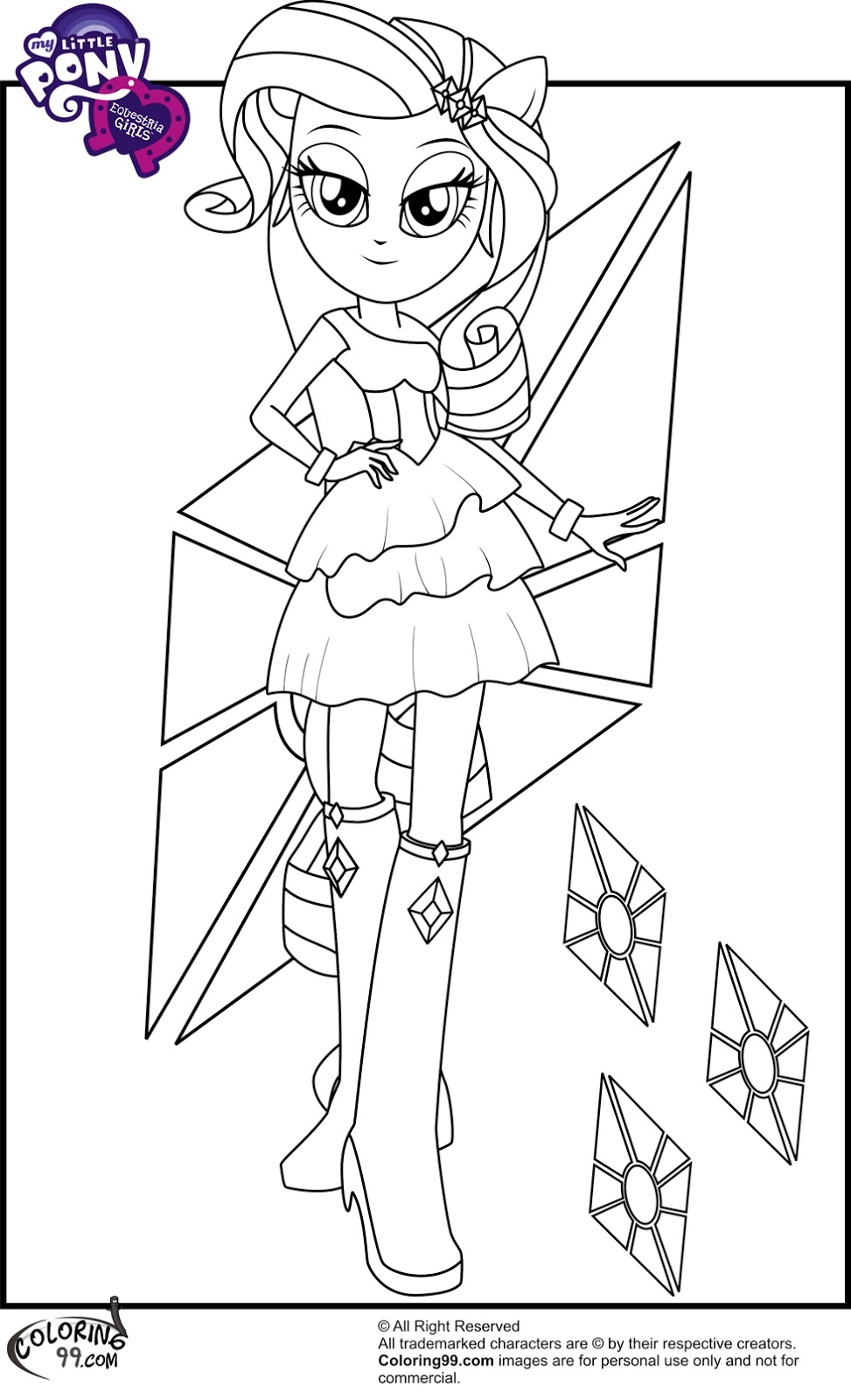 equestria girls coloring pages - my little pony equestria girls coloring