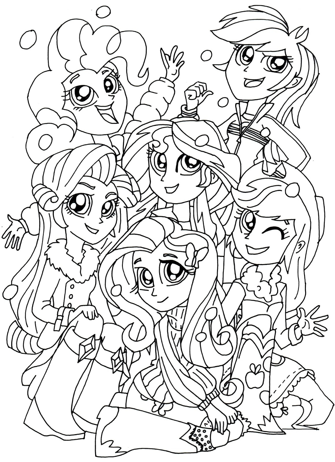 Equestria Girls Coloring Pages - My Little Pony Equestria Girls Sunset Shimmer Coloring Page