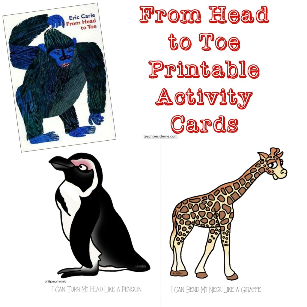 eric carle coloring pages - head toe free printable cards
