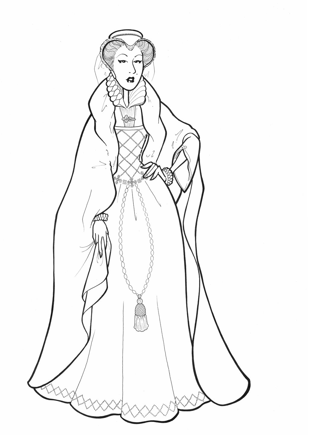 esther coloring pages - Mary Stuart Queen of Scots