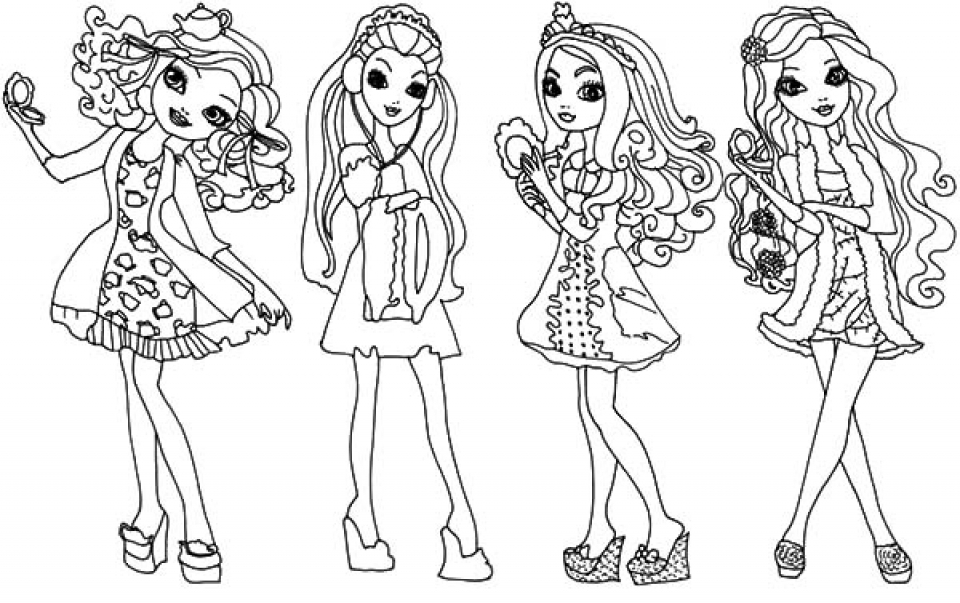 ever after high coloring pages - 3848