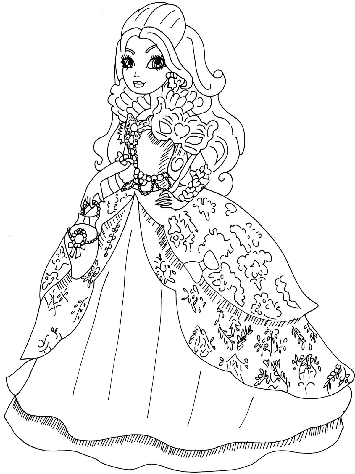 ever after high coloring pages - apple white throne ing ever after