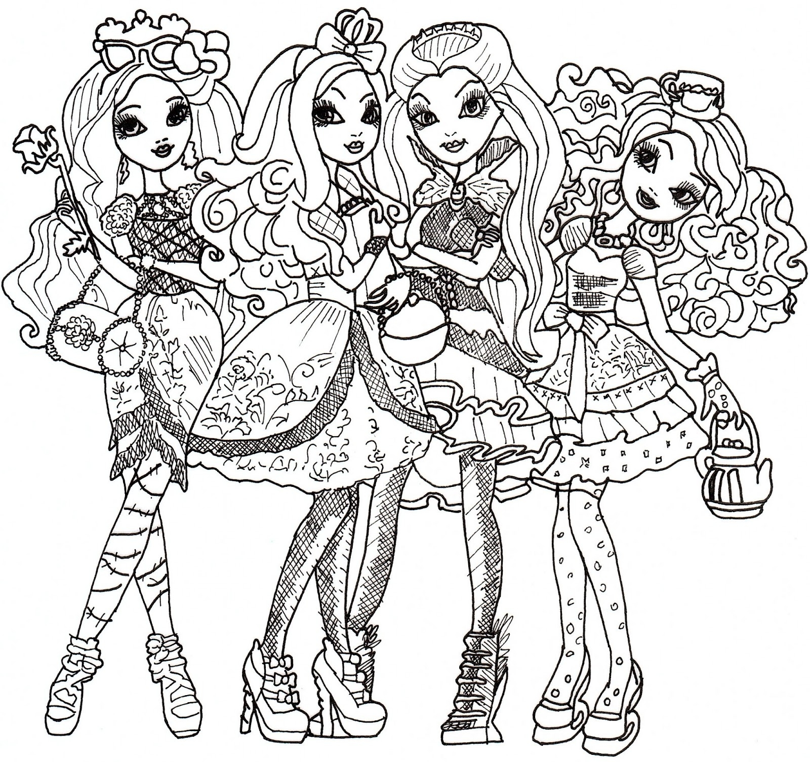 ever after high coloring pages - ever after high coloring sheet