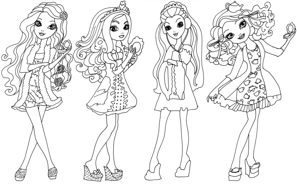 ever after high coloring pages - ting fairest ever after high