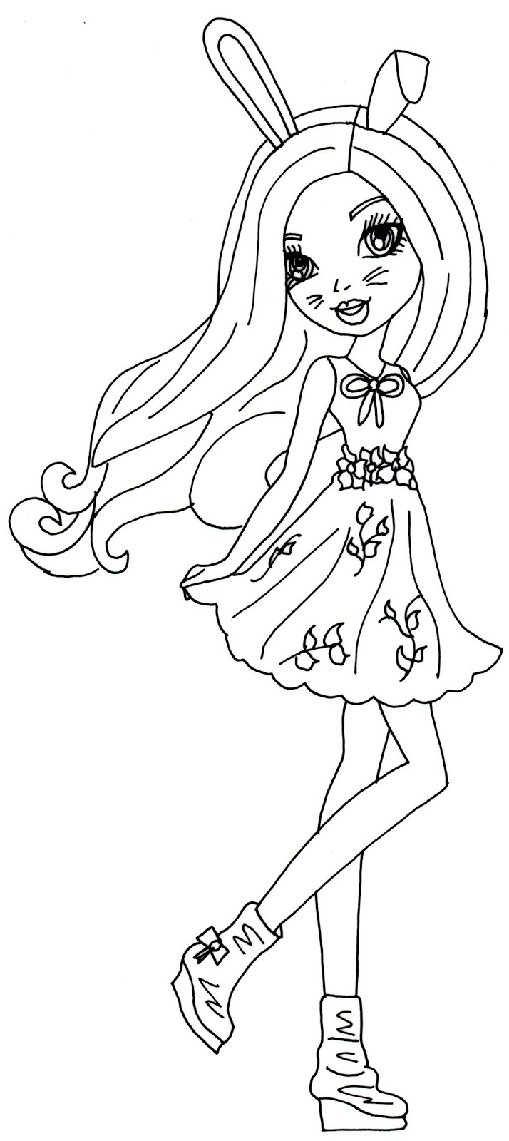 ever after high coloring pages - harelow ever after high coloring page