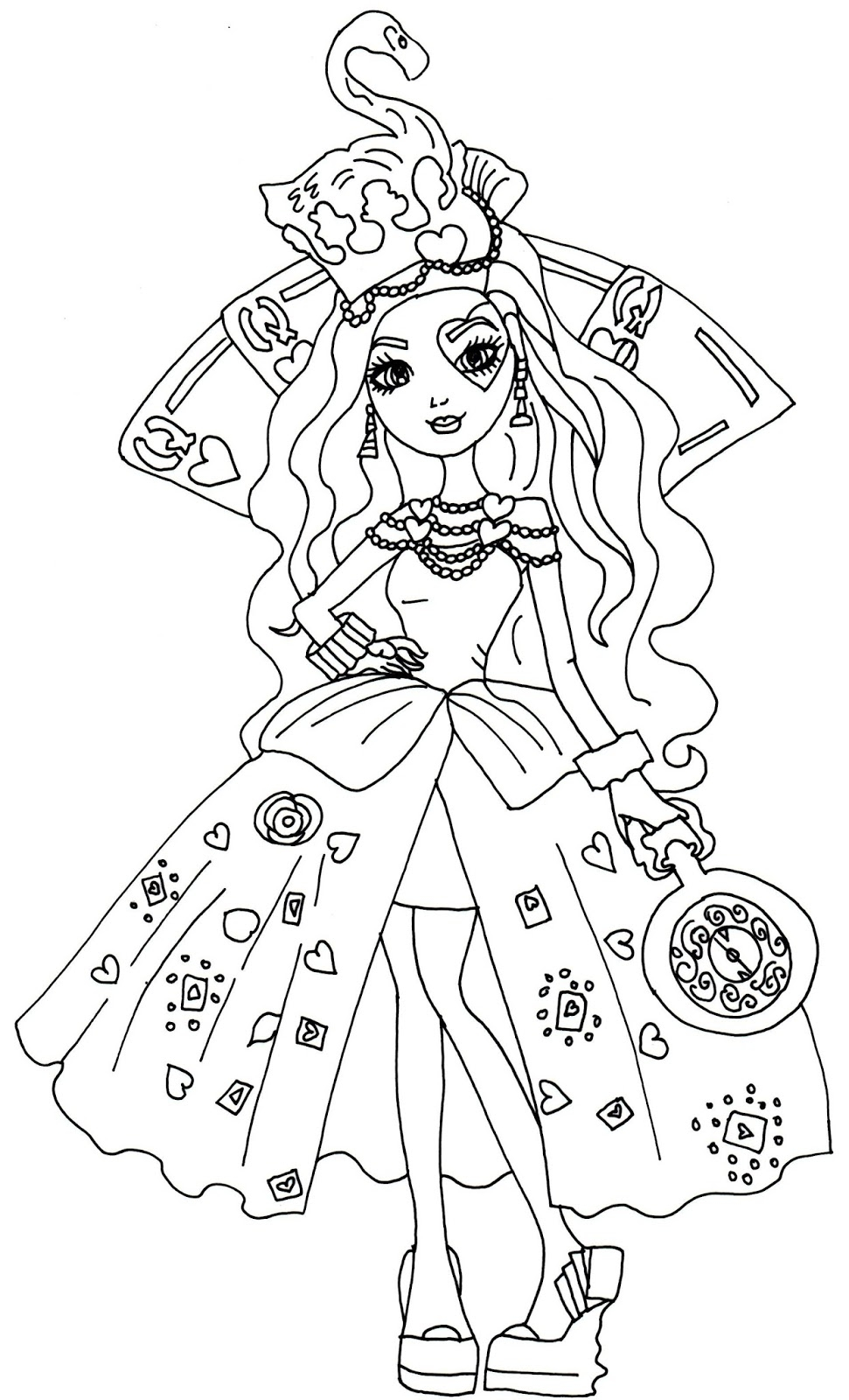 ever after high coloring pages - 01