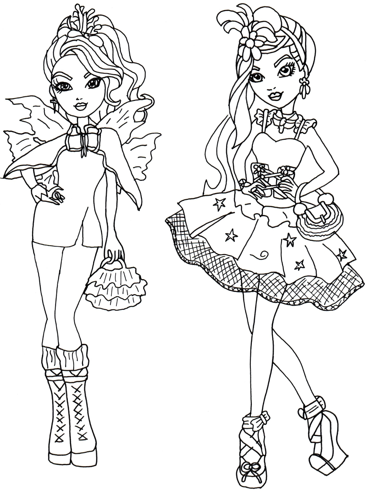 ever after high coloring pages - ever after high coloring pages