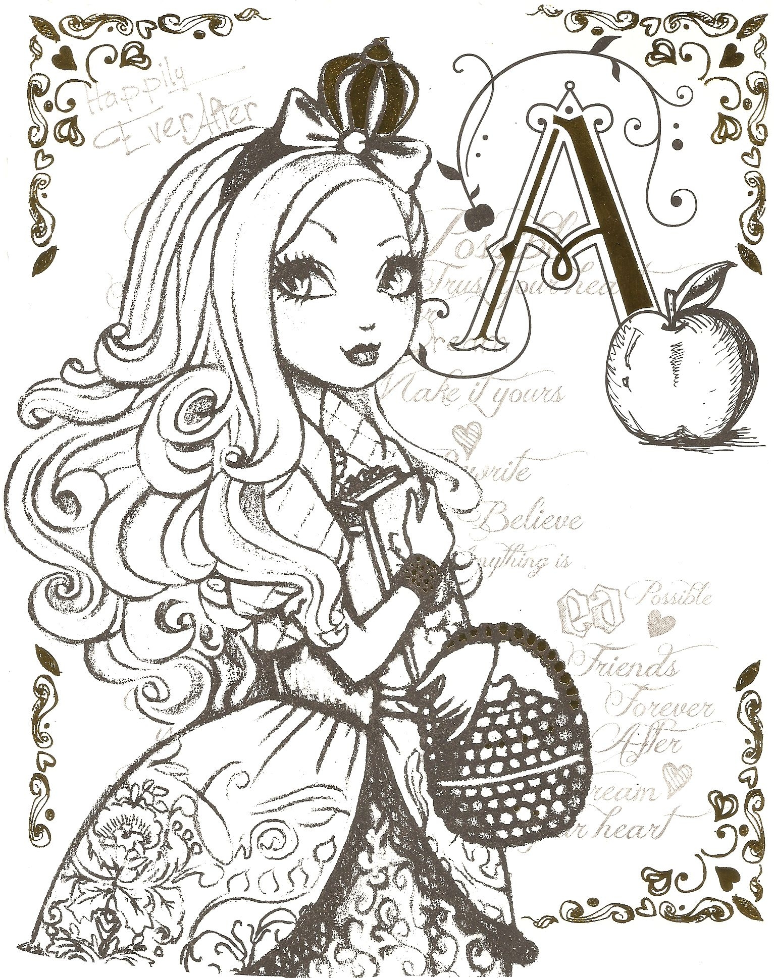 ever after high coloring pages - collectionedwn ever after high madeline hatter coloring pages