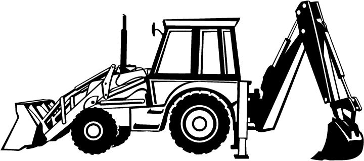 excavator coloring page - pictures of backhoes