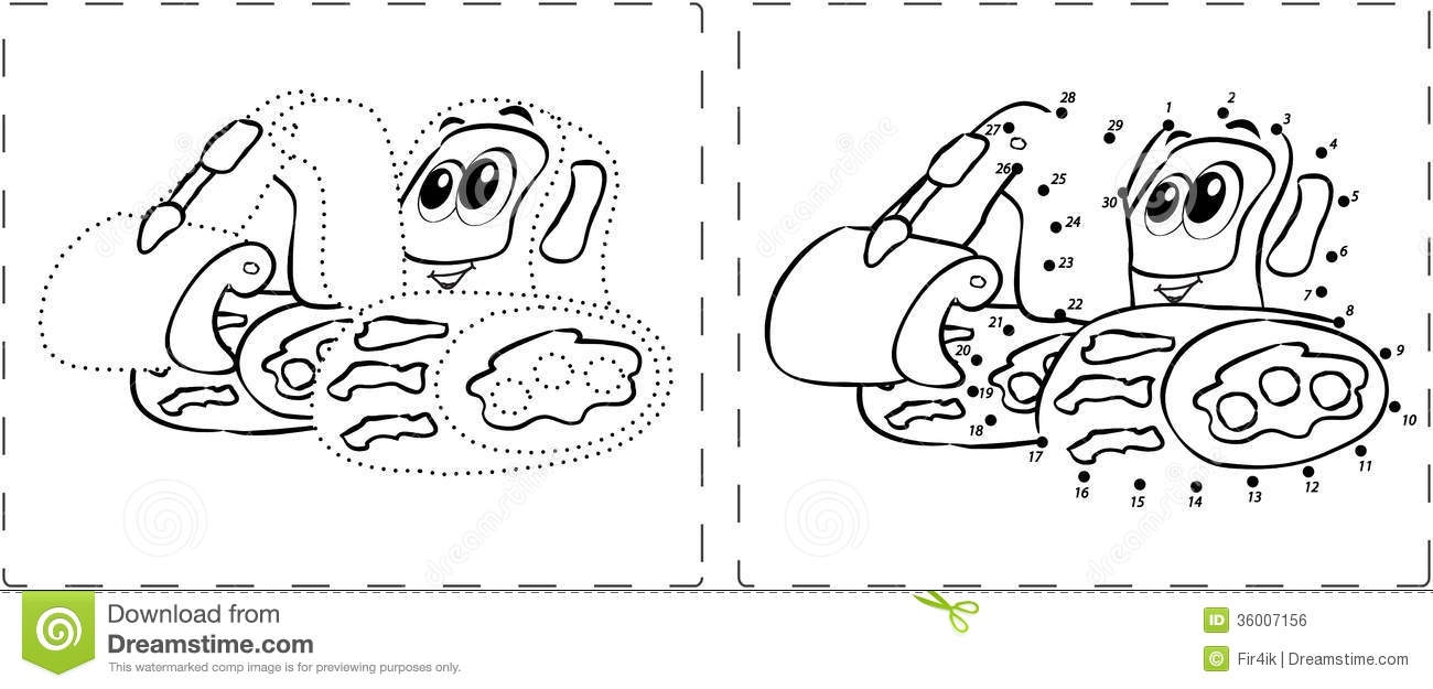 excavator coloring page - royalty free stock image funny excavator drawing dots digits coloring book image
