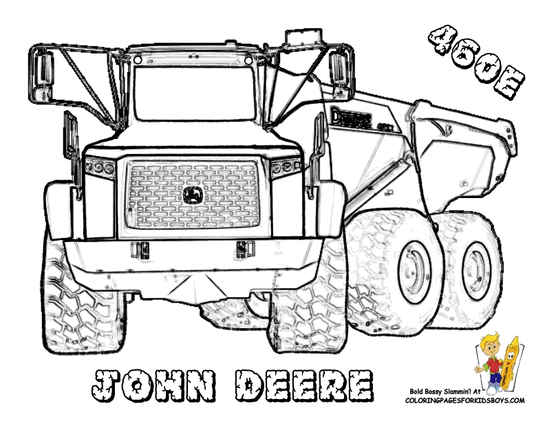 excavator coloring page -
