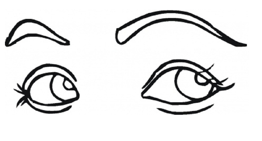 eye coloring page - human body parts